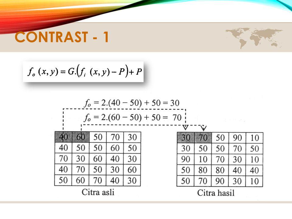 CONTRAST - 1