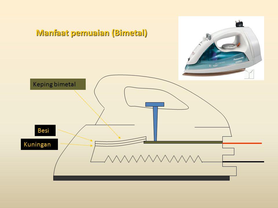 Manfaat pemuaian (Bimetal) Keping bimetal Besi Kuningan