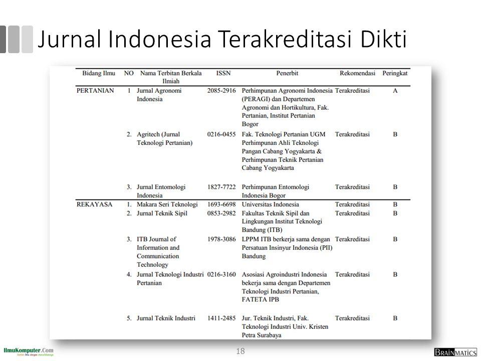 Jurnal Indonesia Terakreditasi Dikti 18