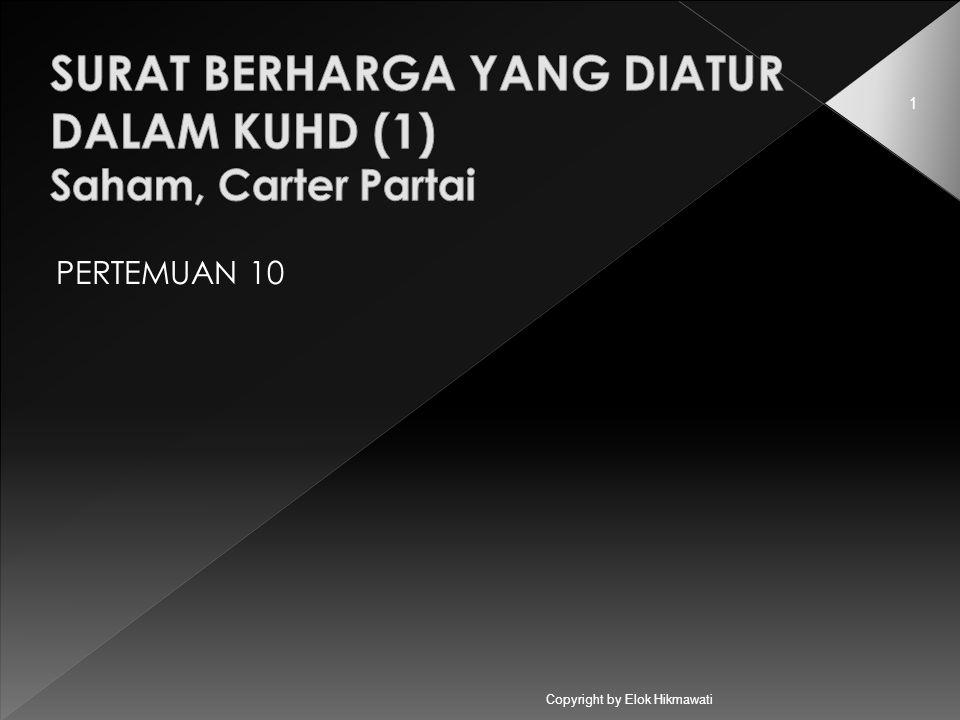 Copyright by Elok Hikmawati 1 PERTEMUAN 10