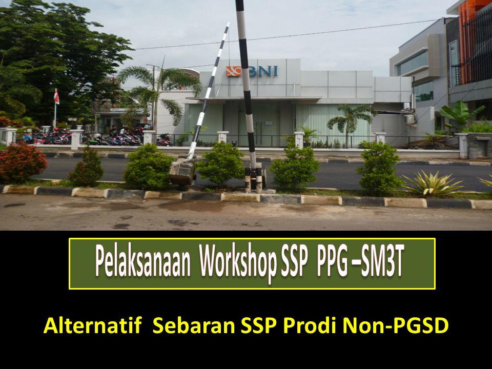 Alternatif Sebaran SSP Prodi Non-PGSD