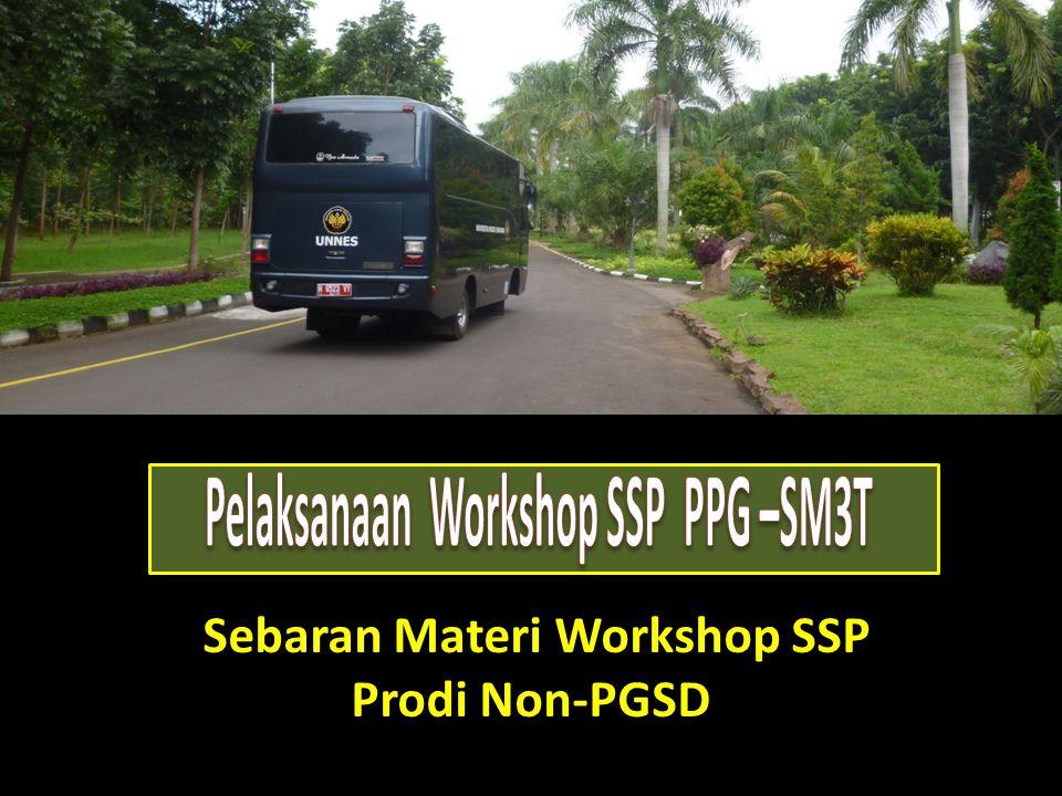 Sebaran Materi Workshop SSP Prodi Non-PGSD