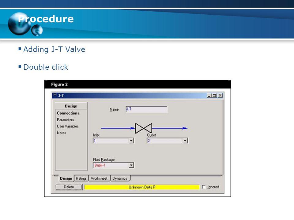 Procedure  Adding chiller/heater  Double click