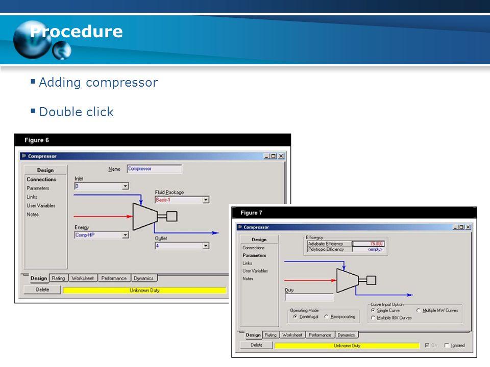 Procedure  Adding condensor  Double click