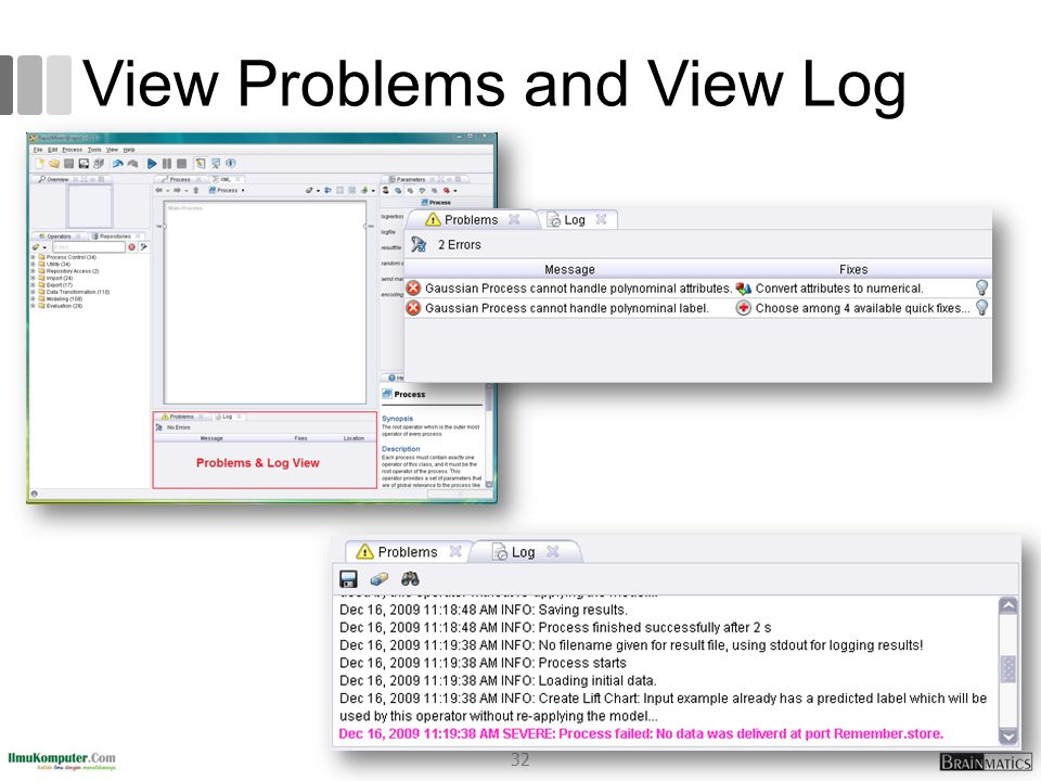 View Problems and View Log 32