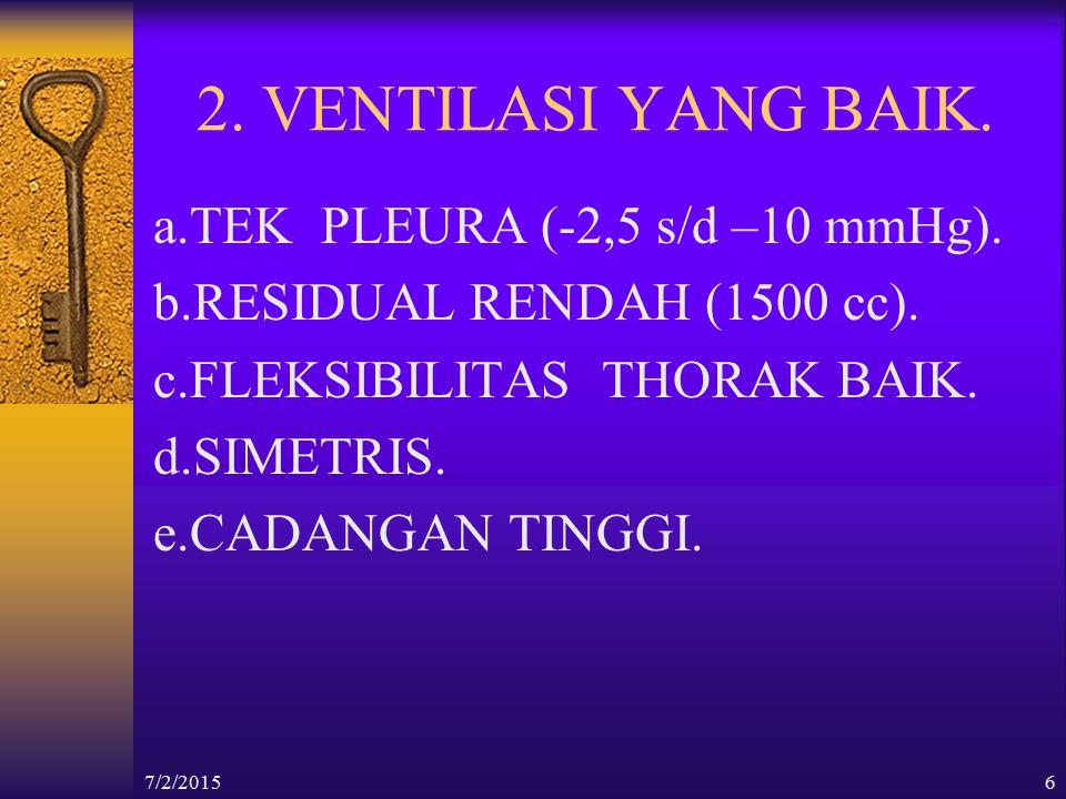 7/2/201537 5.TEHNIK FASILITASI LATERAL KOSTAE BREATHING.