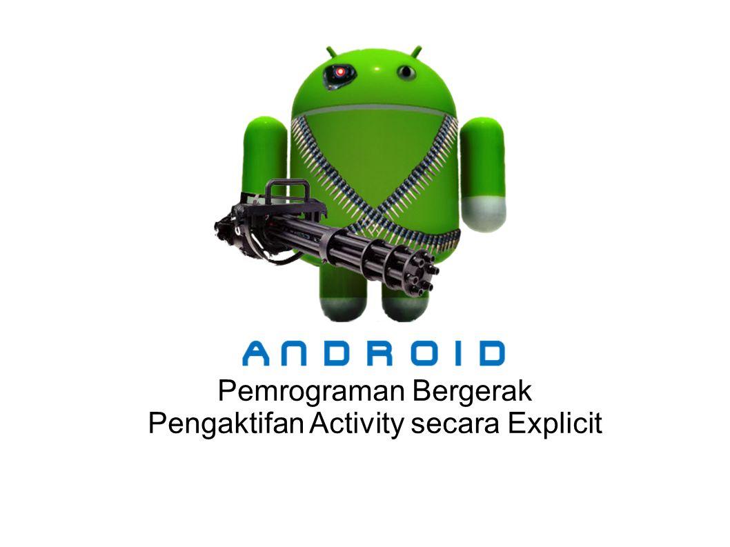 Pemrograman Bergerak Pengaktifan Activity secara Explicit