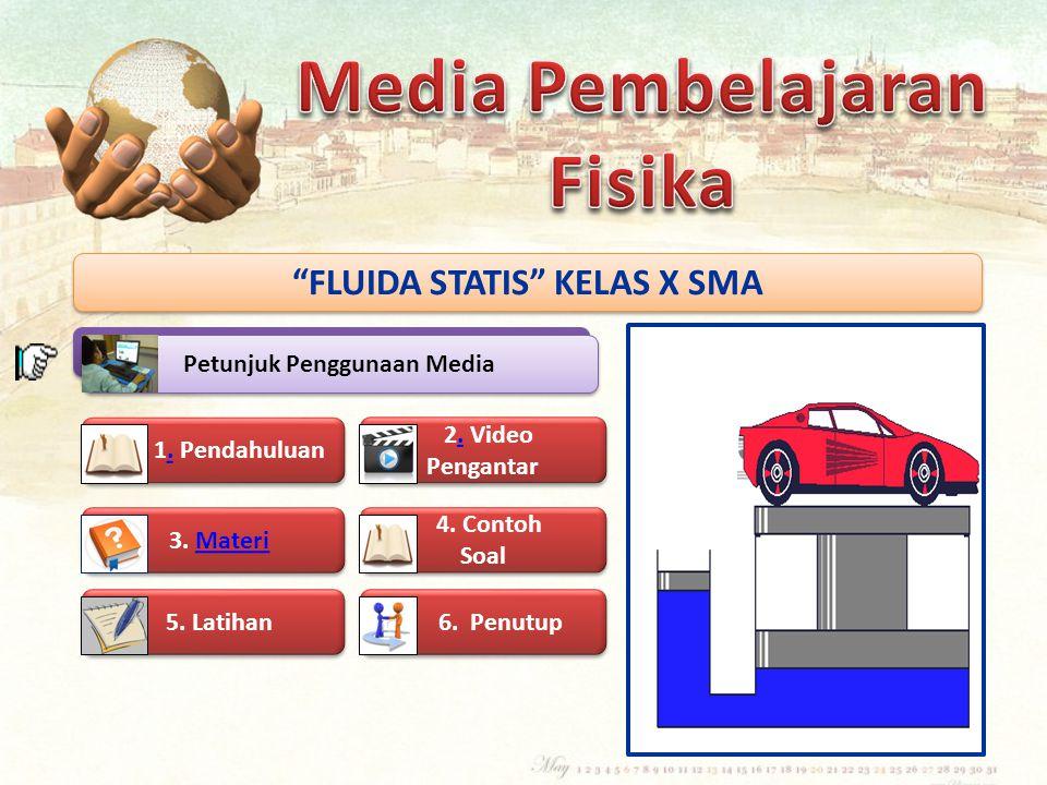 FLUIDA STATIS KELAS X SMA Petunjuk Penggunaan Media 1.