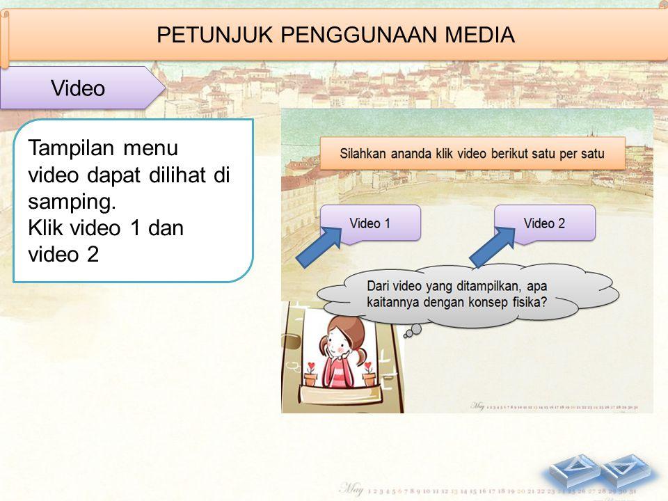 Tampilan menu video dapat dilihat di samping.