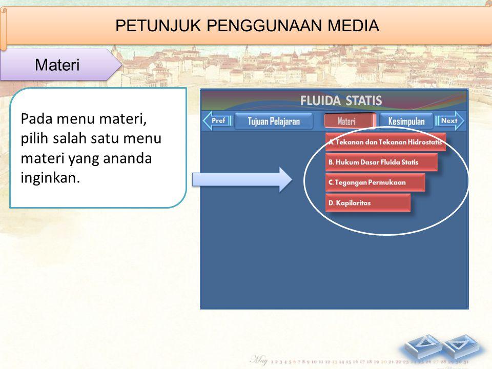 Tampilan menu video dapat dilihat di samping. Klik video 1 dan video 2 Video PETUNJUK PENGGUNAAN MEDIA