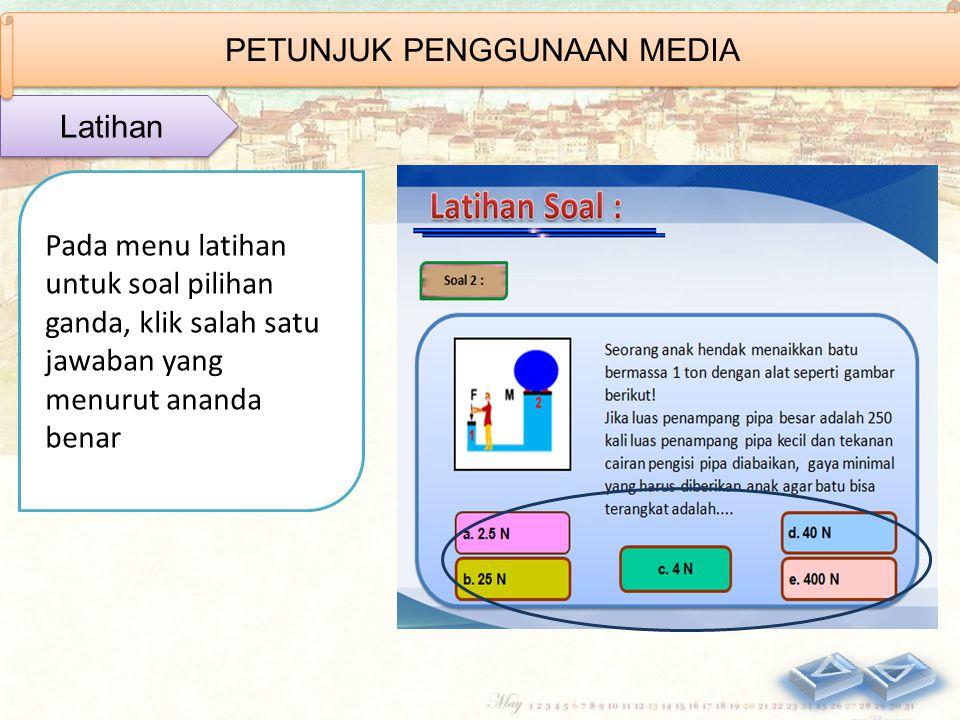 Pada menu materi, klik tulisan di dalam kotak yang berwarna merah untuk melihat animasi (keterangan) yang berhubungan dengan materi tersebut. Materi P