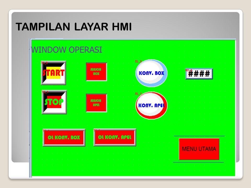 TAMPILAN LAYAR HMI WINDOW OPERASI
