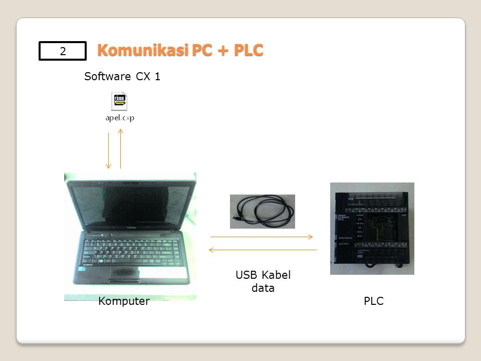 Komputer USB Kabel data PLC Software CX 1 2 Komunikasi PC + PLC