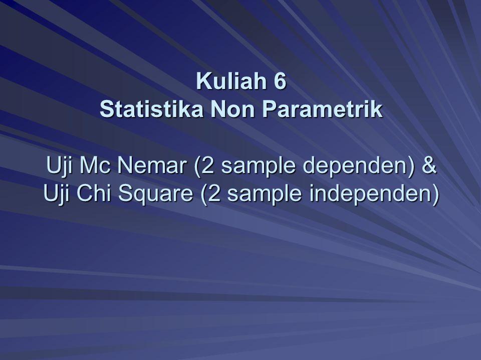 Uji Mc Nemar Statistika Non-Parametrik 2