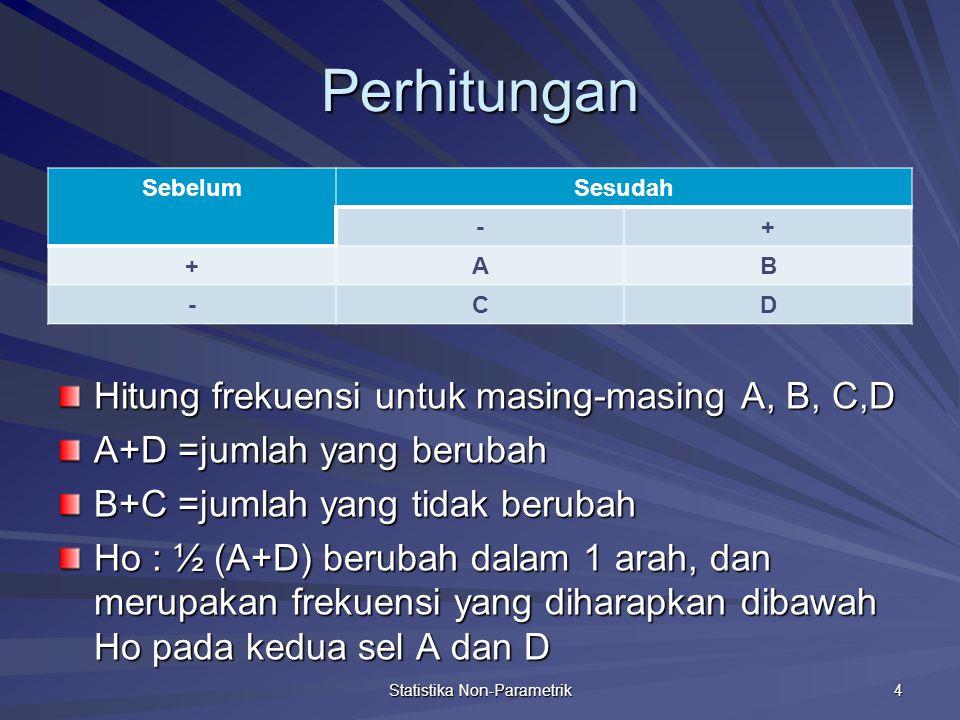 Pengujiannya Statistika Non-Parametrik 5
