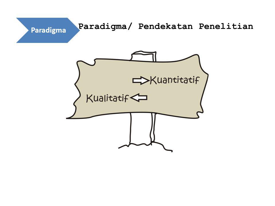 Paradigma/ Pendekatan Penelitian Paradigma