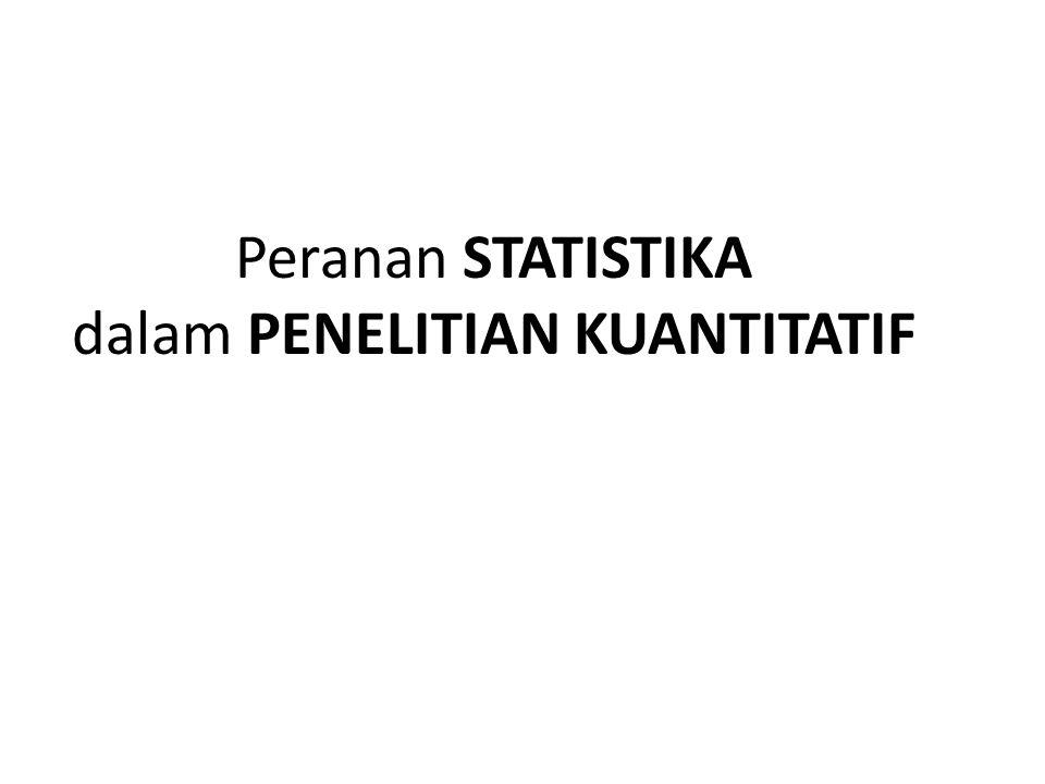 Peranan STATISTIKA dalam PENELITIAN KUANTITATIF