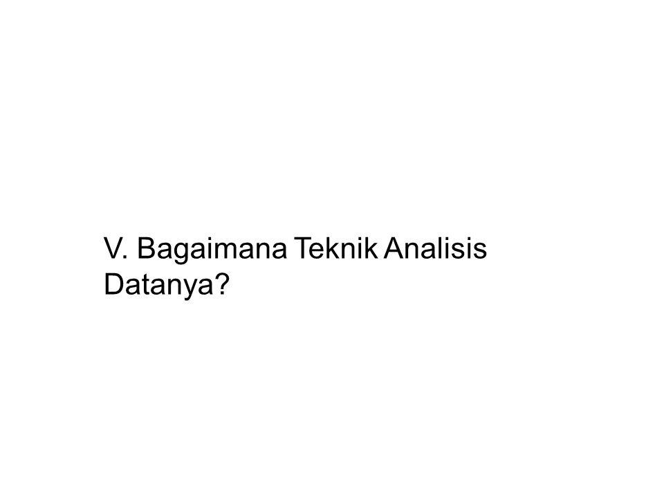 V. Bagaimana Teknik Analisis Datanya?