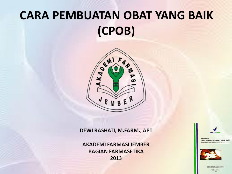 c-GMP (Current Good Manufacturing Practice) CPOB CPOTB CPKB CPMB