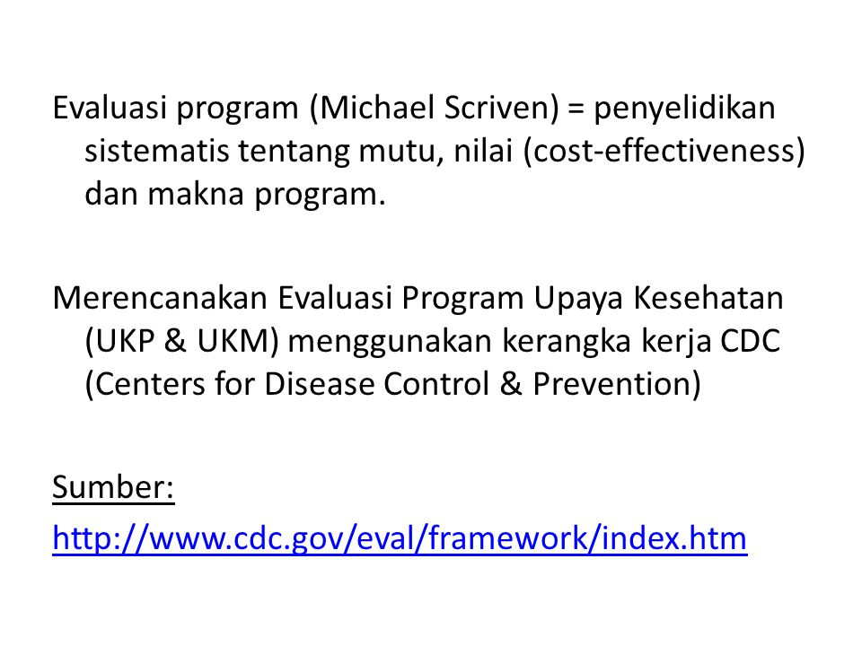 CDC Program Evaluation Framework