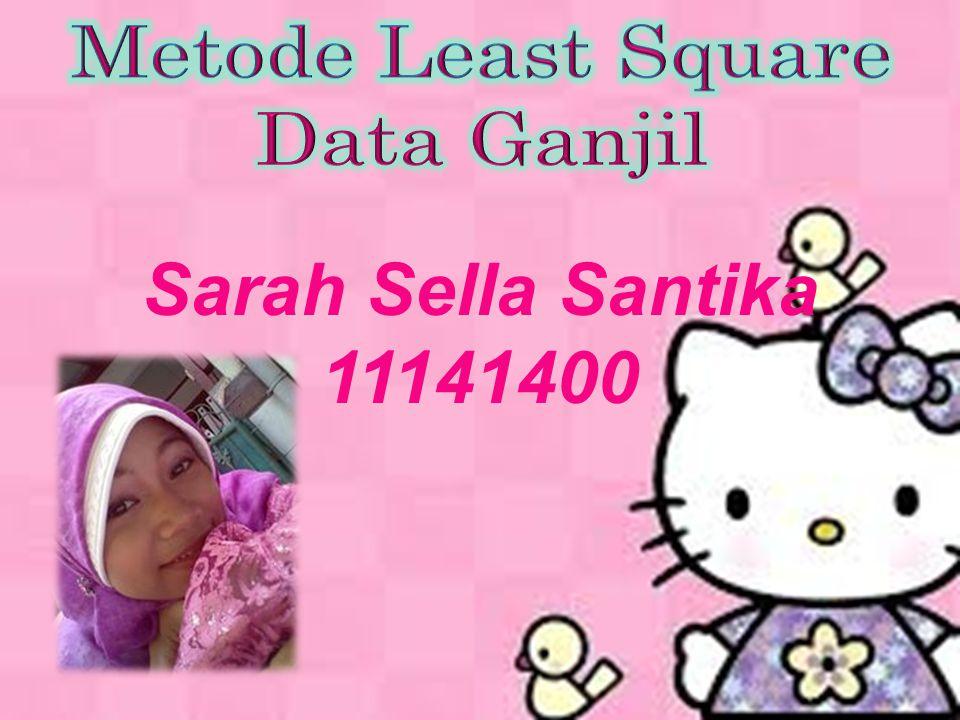 Metode Least Square Metode least square atau metode kuadrat terkecil, dapat di pergunakan untuk Melakukan forecast penjualan atau melakukan peramalan pada masa yang akan datang.