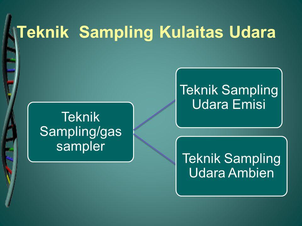 Teknik Sampling/gas sampler Teknik Sampling Udara Emisi Teknik Sampling Udara Ambien Teknik Sampling Kulaitas Udara