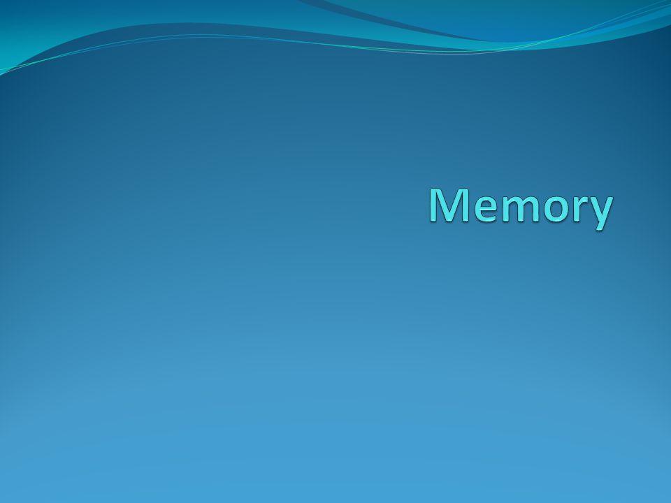 Memory Memori merupakan media penampung sementara program dan data yang sedang dijalankan oleh komputer.