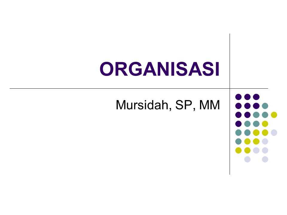 ORGANISASI Mursidah, SP, MM