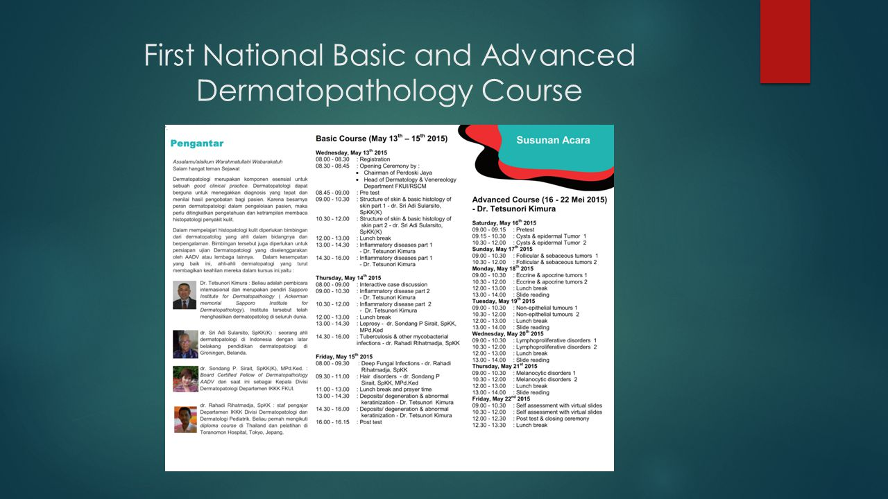 First National Basic and Advanced Dermatopathology Course