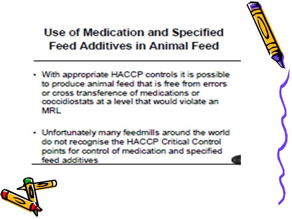 Penggunaannya tergantung: Komoditi ternak (ayam ≤ 5,15 g/ton ransum) Tujuan pemeliharaan Umur Macam antibiotika Catatan : Produk bisa terkontaminasi residu sisa antibiotika, pemakaiannya dihentikan beberapa hari sebelum pemotongan