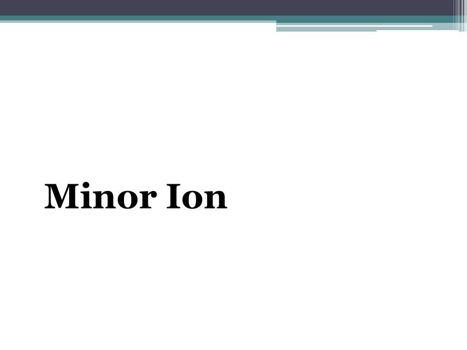 Minor Ion