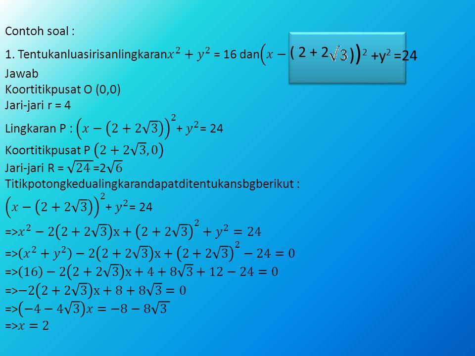 ( 2 + 2 ) ) 2 +y 2 =24