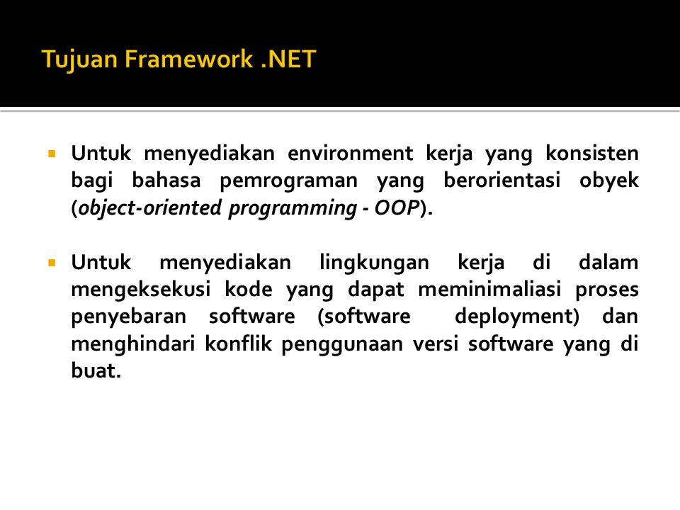  Untuk menyediakan environment kerja yang aman dalam hal pengeksekusian kode, termasuk kode yang dibuat oleh pihak ketiga (third party).
