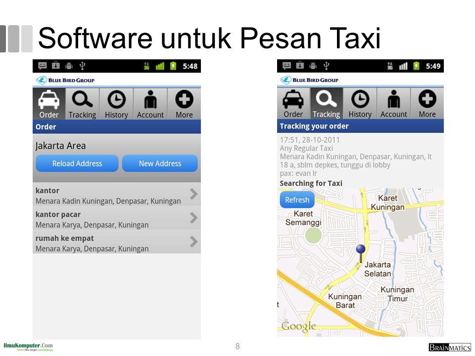 Software untuk Pesan Taxi 8