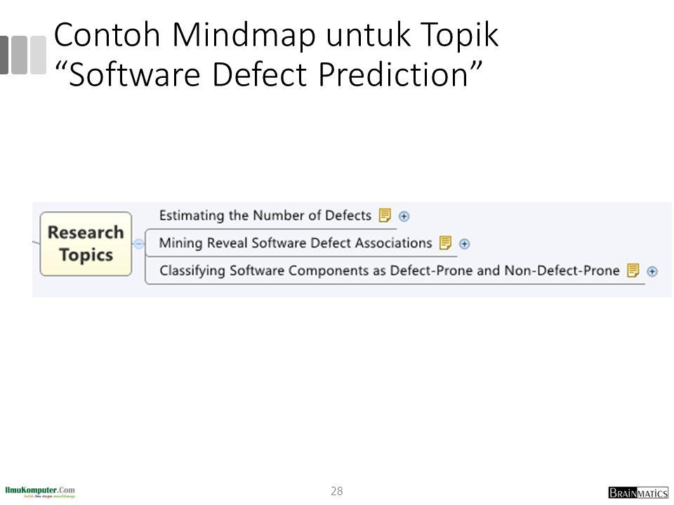 "Contoh Mindmap untuk Topik ""Software Defect Prediction"" 28"