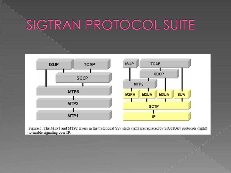  Layer User Adaptation (UA) mengenkapsulasi signaling protokol yang berbeda untuk jaringan sirkit untuk ditransmisikan melalui jaringan IP menggunakan SCTP.