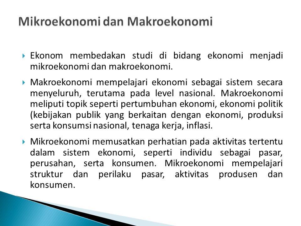 Studi ekonomi media mencakup mikroekonomi maupun makroekonomi.