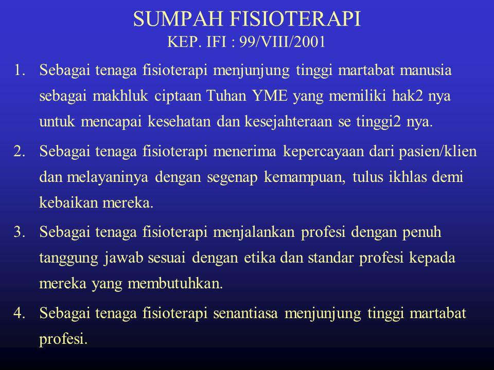 Kuliah Program Diploma IV Fisioterapi Oleh P. Sunarno