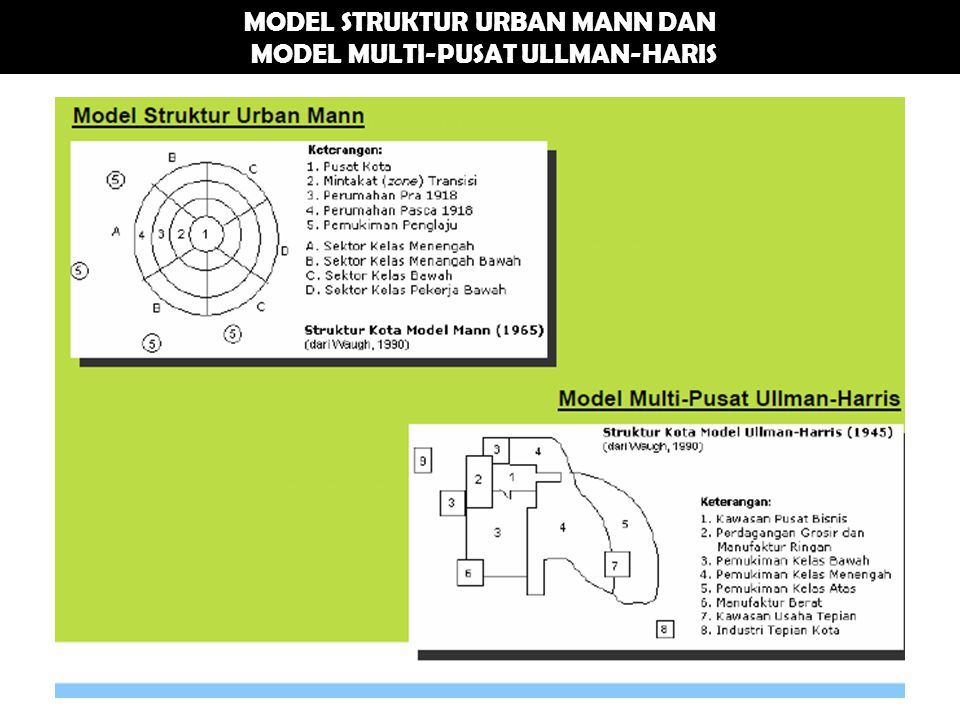 MODEL STRUKTUR URBAN MANN DAN MODEL MULTI-PUSAT ULLMAN-HARIS