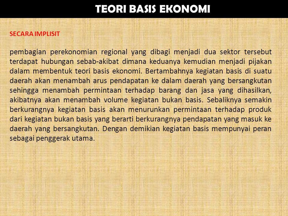 SECARA IMPLISIT pembagian perekonomian regional yang dibagi menjadi dua sektor tersebut terdapat hubungan sebab-akibat dimana keduanya kemudian menjad