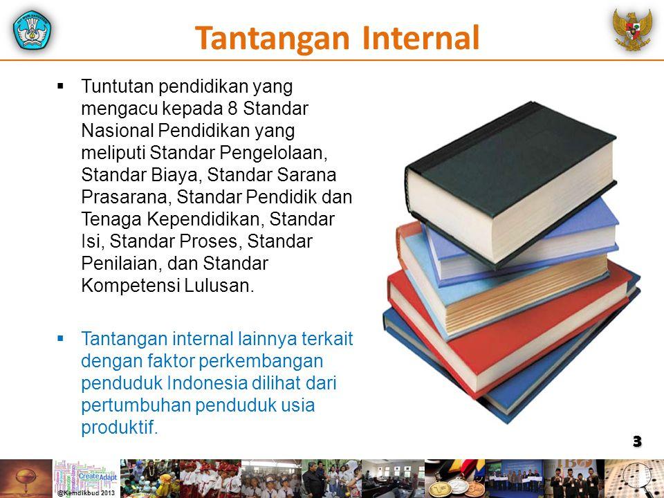 4 STANDAR PENGELOLAAN Manajemen Berbasis Sekolah STANDAR PEMBIAYAAN BOS, Bantuan Siswa Miskin, BOPTN/Bidik Misi (di PT) STANDAR SARANA-PRASARANA Rehab Gedung Sekolah, RKB, Penyediaan Lab dan Perpustakaan, Penyediaan Buku STANDAR PENDIDIK DAN TENAGA KEPENDIDIKAN Peningkatan Kualifikasi & Sertifikasi, Pembayaran Tunjangan Sertifikasi, Uji Kompetensi dan Pengukuran Kinerja STANDAR ISI STANDAR KOMPETENSI LULUSAN STANDAR (PROSES) PENILAIAN STANDAR PROSES (PEMBELAJARAN) PESERTA DIDIK LULUSAN KURIKULUM 2013 Reformasi Pendidikan Mengacu Pada 8 Standar