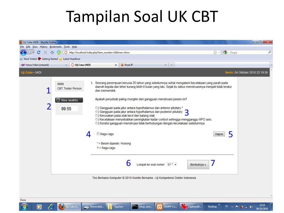 Tampilan Soal UK CBT 1 2 3 45 67