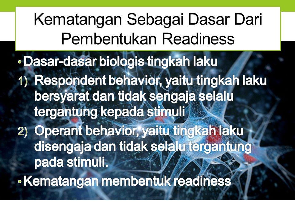 Kematangan Sebagai Dasar Dari Pembentukan Readiness