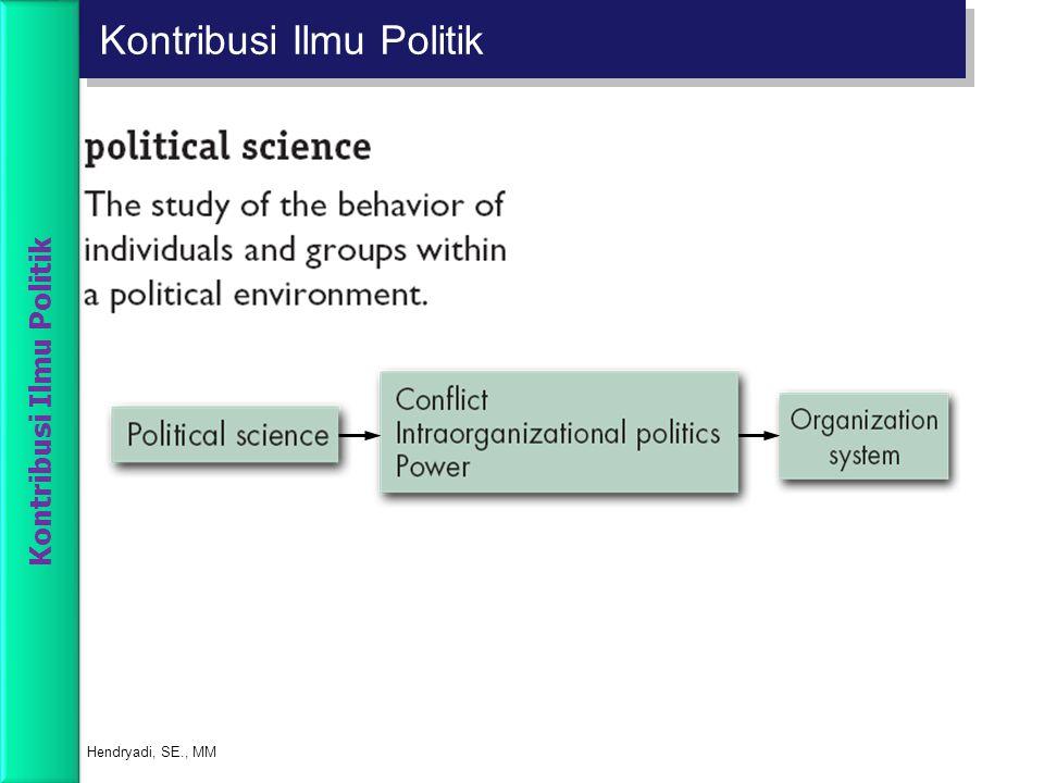 Kontribusi Ilmu Politik Hendryadi, SE., MM Kontribusi Ilmu Politik