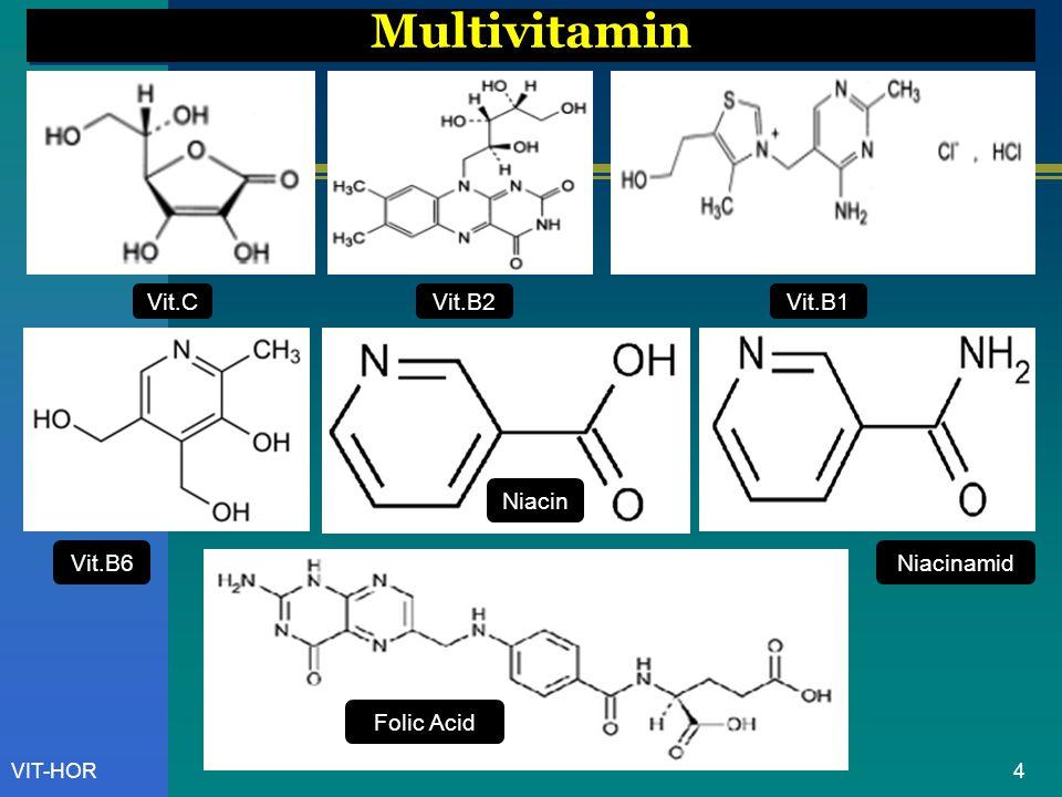 5VIT-HOR Pemisahan Vitamin-Vitamin Yang Larut Air [ ion-pairing reagents ]