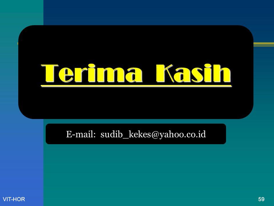 VIT-HOR Terima Kasih E-mail: sudib_kekes@yahoo.co.id 59