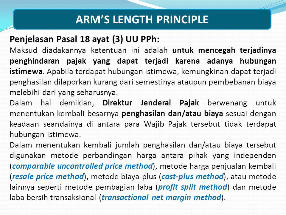 Pasal 18 ayat (3) UU PPh: Direktur Jenderal Pajak berwenang untuk menentukan kembali besarnya penghasilan dan pengurangan serta menentukan utang sebag
