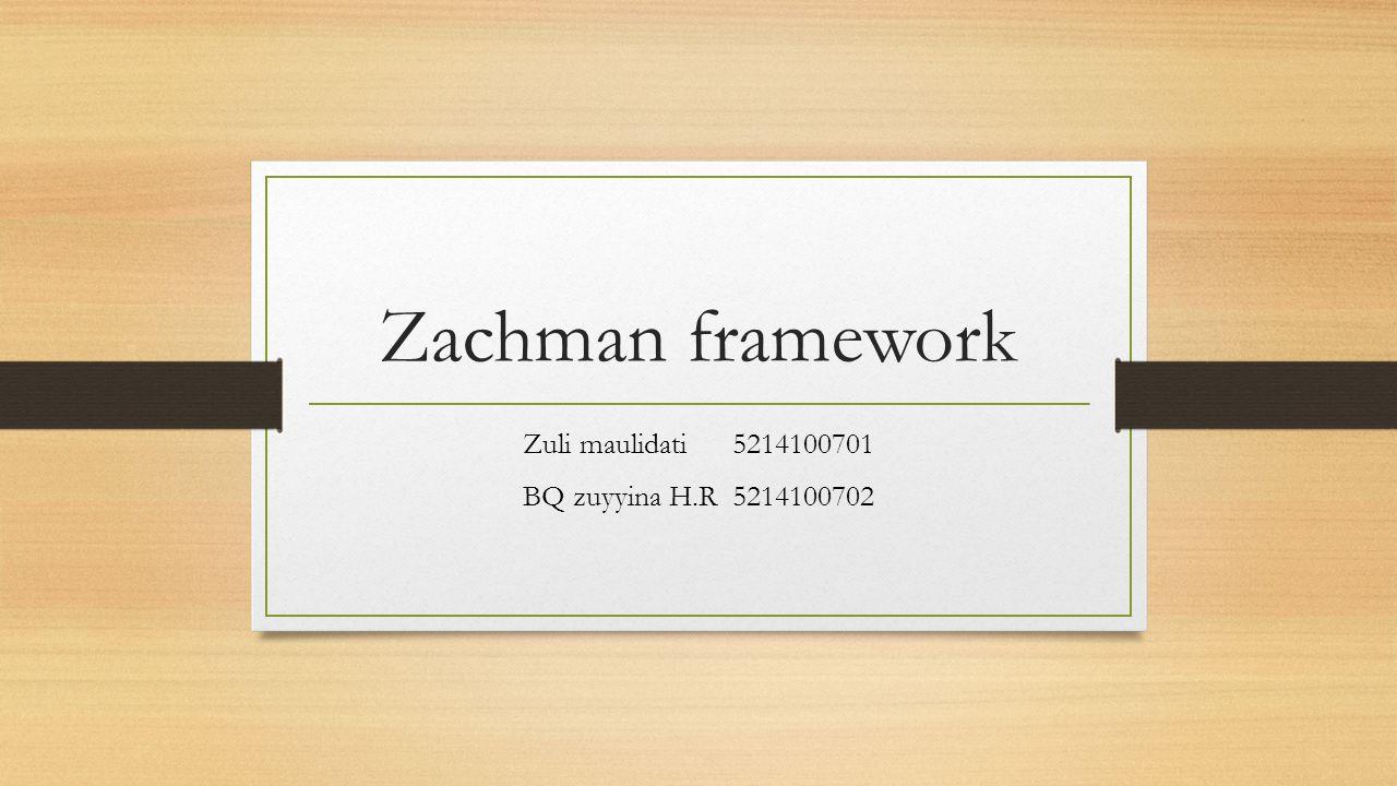 Zachman framework Zuli maulidati5214100701 BQ zuyyina H.R5214100702