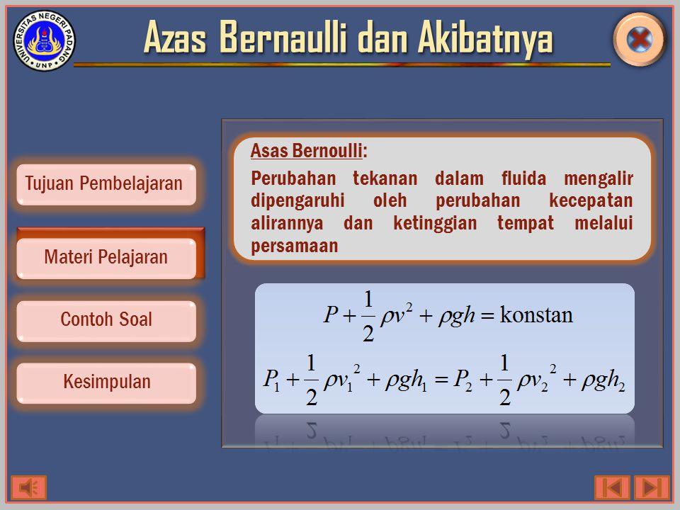 Persamaan Bernaulli Contoh Soal Kesimpulan Tujuan Pembelajaran Materi Pelajaran Perhatikan gambar dibawah.