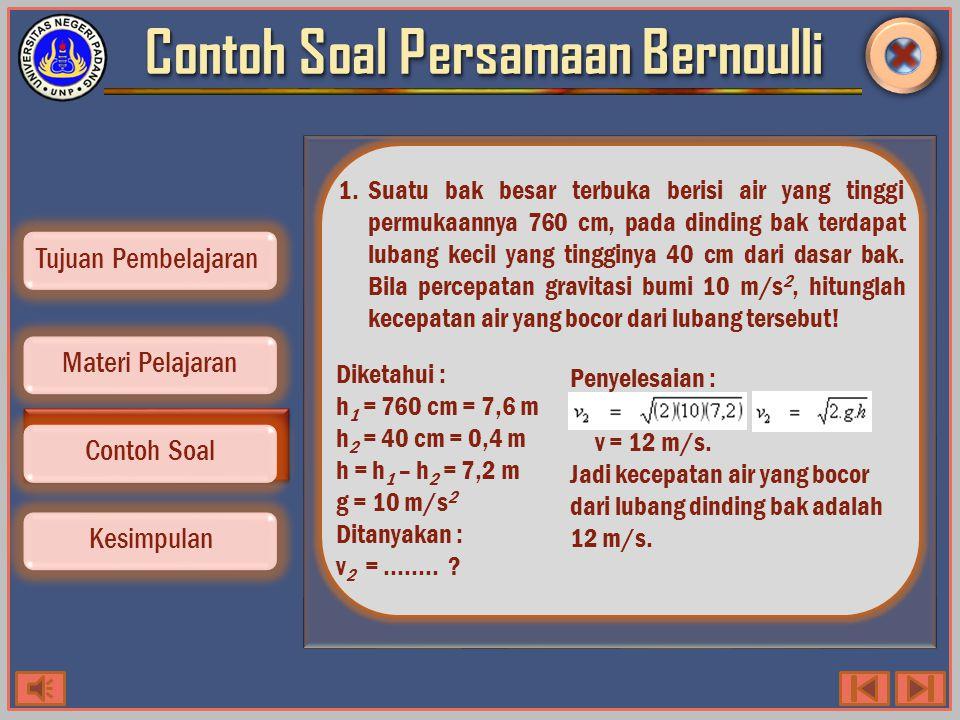 Penerapan Azas Bernoulli Contoh Soal Kesimpulan Tujuan Pembelajaran Materi Pelajaran 1.Karburator, adalah alat dalam mesin kendaraan yang berfungsi untuk menghasilkan campuran bahan bakar dengan udara lalu campuran ini dimasukkan ke dalam silinder mesin untuk pembakaran.